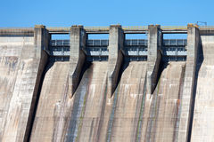 Large dam on the river Stock Image