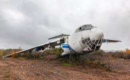 Large damage passenger aircraft Stock Photos