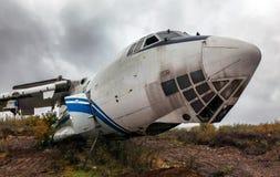 Large damage passenger aircraft Royalty Free Stock Photo