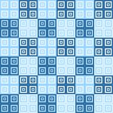 Large dark and light blue square cube pattern background. Large dark and light  blue squares inside squares cube pattern background wallpaper Stock Photo