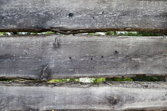 Large, dark, old wooden planks with green grass. Menu for the organic restaurant. Background for leaflets, wine lists, menus, busi Royalty Free Stock Images
