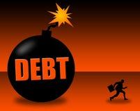 Large debt. Detonating any moment Royalty Free Stock Image