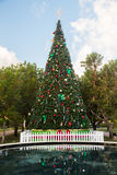 Large decorated external christmas tree Stock Photos