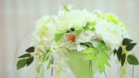 Large decorative bouquet stock footage