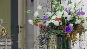Large decorative bouquet stock video footage
