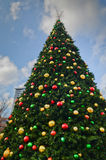 Large Decorative Christmas Tree Royalty Free Stock Image