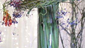 Large decorativing bouquet stock video