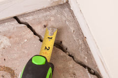 Concrete Crack in Foundation Stock Photo