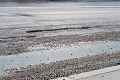 Large deep pothole Royalty Free Stock Image