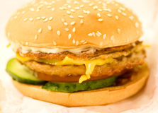 Large delicious hamburger Royalty Free Stock Image