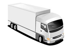 Large Delivery Truck. 2D Illustration of a large goods vehicle Stock Images