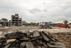 Large demolition site Royalty Free Stock Image