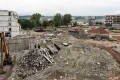 Large demolition site Royalty Free Stock Images