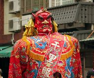 Large Demon Statue in Taiwan Stock Images