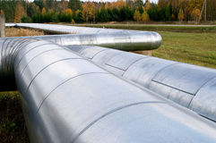 Large diameter Steel pipes Stock Photos
