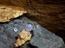 A Diamond on a Piece of Rock. stock photography