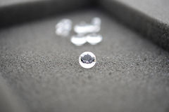 Large diamonds with one in focus Stock Photography