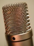 Large diaphragm microphone macro Royalty Free Stock Photos