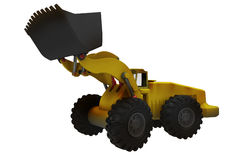 Large digger side view. Large digger from side view, used at construction sites or mines Royalty Free Stock Images