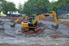 A large digger in Thailand Royalty Free Stock Images