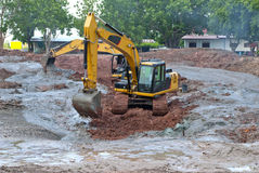 A large digger in Thailand Stock Photos