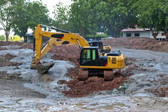 A large digger in Thailand Royalty Free Stock Photography
