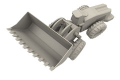 Large digger top view. Large digger from top view, used at construction sites or mines Stock Photography