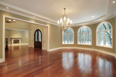 Large dining room in luxury home Royalty Free Stock Images