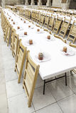 Large dining table Royalty Free Stock Images