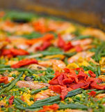 Large dish of Paella Stock Photo