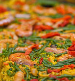 Large dish of Paella Royalty Free Stock Photography