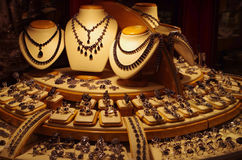 Large Display Jewelry Store Royalty Free Stock Image