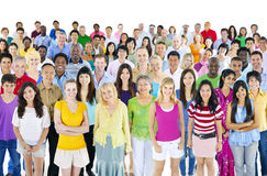 Large Diverse Diversity Ethnic Ethnicity Concept Royalty Free Stock Photography