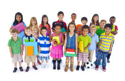 Large Diverse Group of Children stock photo