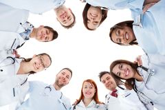 Large diverse multiethnic medical team