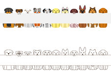 Large dogs border set, with long blank board Stock Photography