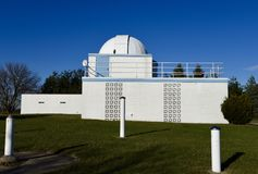 Large Dome. This is a late Fall picture of the building known as the Large Dome at the Modine-Benstead Observatory located in Union Grove, Wisconsin in Racine royalty free stock images