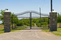 Large double metal gate Royalty Free Stock Image
