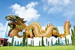 Large dragon statue. Stock Photo
