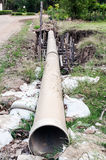 Large drain pipe Royalty Free Stock Photos