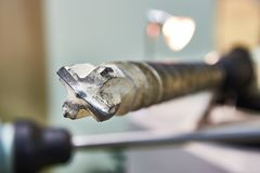 Large drill bit for concrete Stock Photo