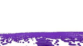 Large drops of violet paint fall on the white surface and it is stain, leaving large blots and making large splashes and. Blots. Photographed in slow motion stock video
