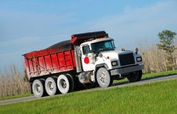 Large dump truck Stock Image