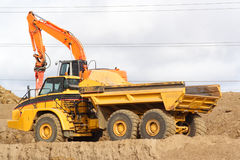 Large dump truck Royalty Free Stock Images