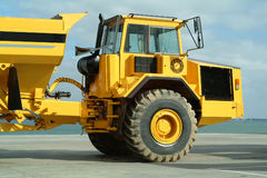 Large dumper truck in construction site. Big dumper truck in construction site Royalty Free Stock Photography