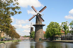 Large Dutch Windmill Stock Photography