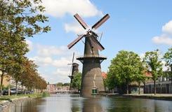 Large Dutch Windmill Stock Photography