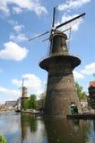Large Dutch Windmill Royalty Free Stock Photos