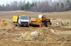 Large earth moving heavy equipment Royalty Free Stock Images