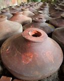 Large Earthenware Pots Royalty Free Stock Photo